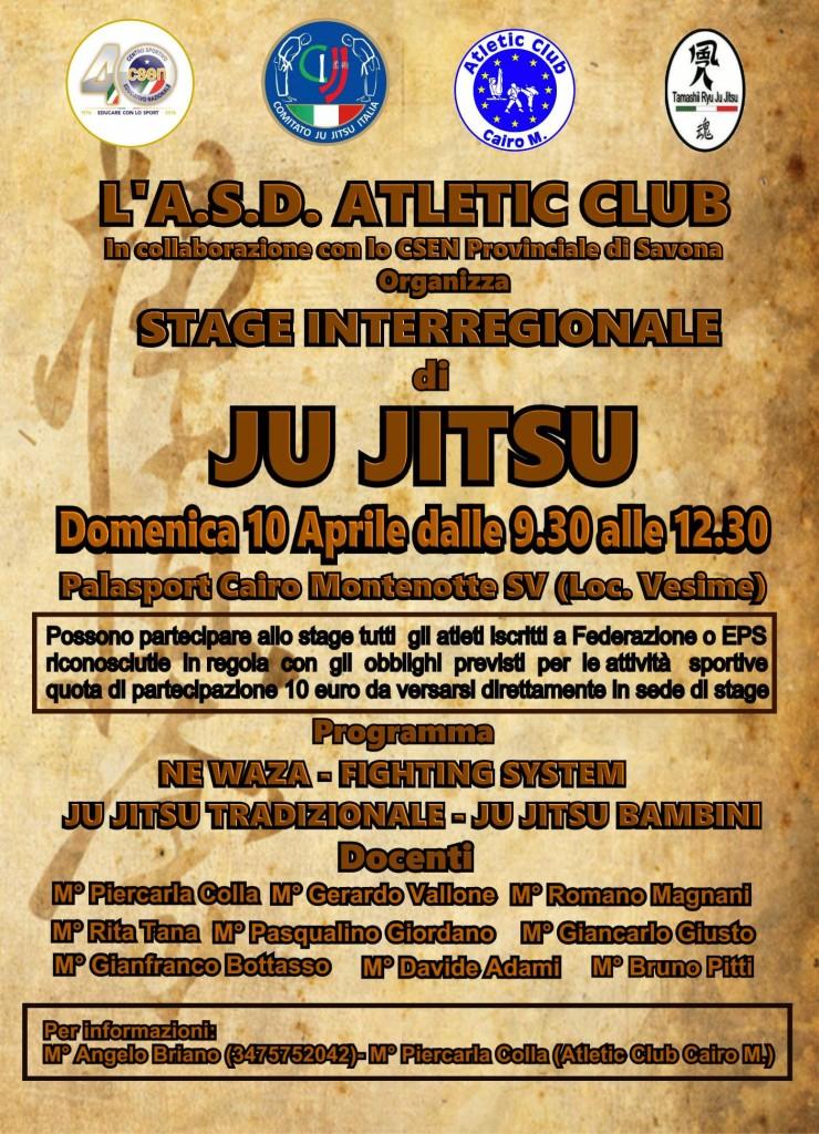 locandina stage atletic club